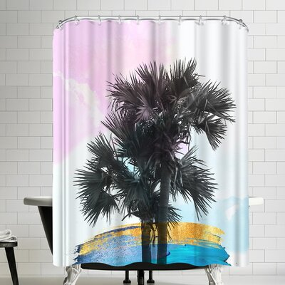 Ikonolexi Colorful Palm Tree Shower Curtain