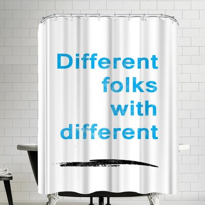 Ikonolexi Diversity Quote Shower Curtain