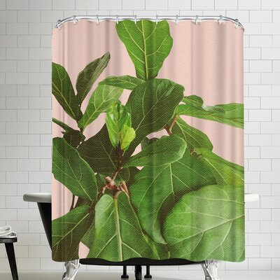 Ikonolexi Fiddle Leaf Fig Shower Curtain