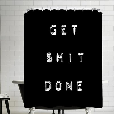 Ikonolexi Get Shit Done Shower Curtain
