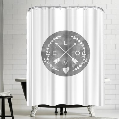 Ikonolexi Love Arrows Shower Curtain