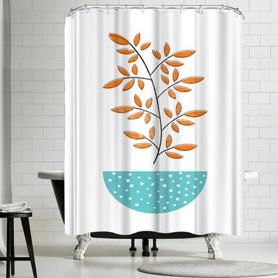 Ikonolexi Mid Century Modern Shower Curtain