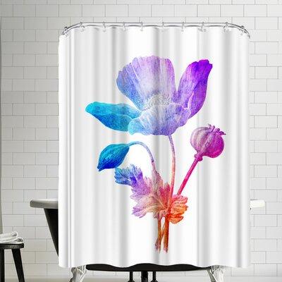 Ikonolexi Poppy Seed Flower Shower Curtain