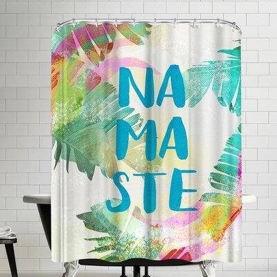Ikonolexi Tropical Namaste Shower Curtain