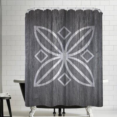 Ikonolexi Wood Shower Curtain