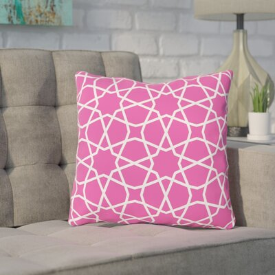 Acevedo Fuschia Outdoor Throw Pillow Size: 18 x 18