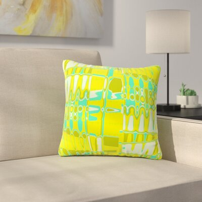 Changing Gears by Vikki Salmela Outdoor Throw Pillow Color: Sunshine