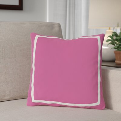 Biller Simple Square Outdoor Throw Pillow Color: Pink, Size: 18 x 18