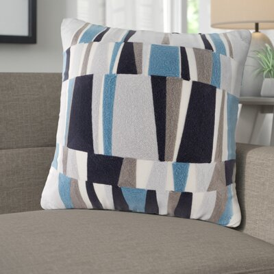 Bendel Embroidered Throw Pillow Color: Blue