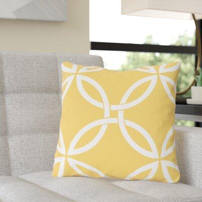 Jenkintown Interwoven Circles Outdoor Throw Pillow Color: Dandelion