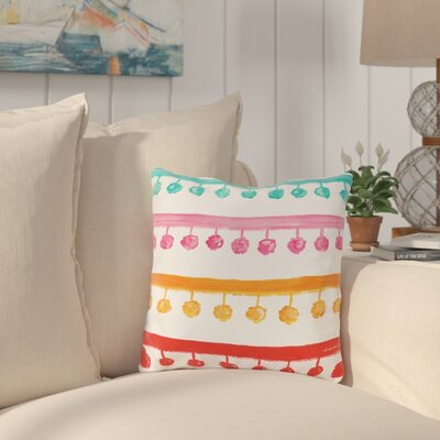Palomar Pom Pom Outdoor Throw Pillow Size: 18 x 18