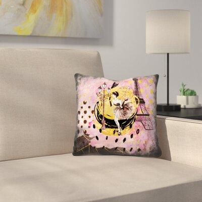 Fashion Girl in Paris Throw Pillow Size: 18 x 18