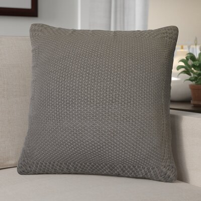 Kensington Moss Knit Cotton Throw Pillow Color: Mocha