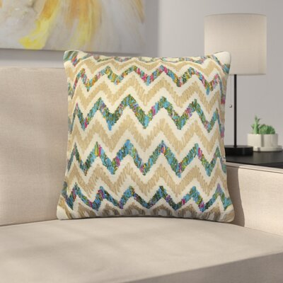 Orris Chevron Applique Cotton Throw Pillow