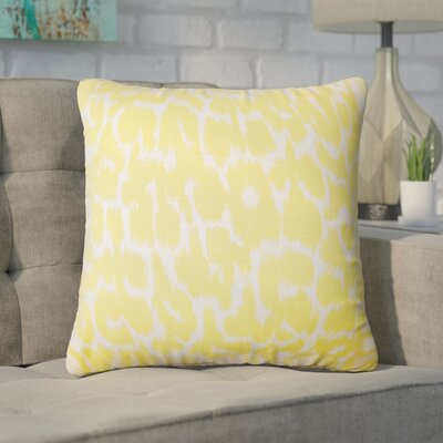 Wetzler Ikat Down Filled Linen Throw Pillow Size: 24 x 24, Color: Buttercup