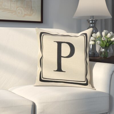 Beaver Creek Monogram Throw Pillow Letter: P