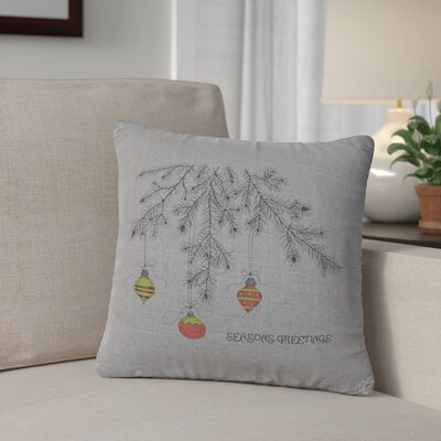Brownlee Bulbs Throw Pillow Color: Gray