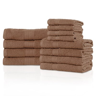 Kellerman Eco-Friendly 12 Piece Towel Set Color: Coffee
