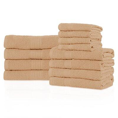 Kellerman Eco-Friendly 12 Piece Towel Set Color: Camel