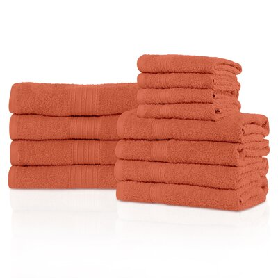 Kellerman Eco-Friendly 12 Piece Towel Set Color: Coral