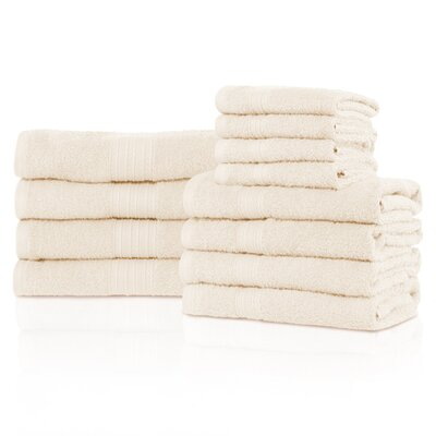 Kellerman Eco-Friendly 12 Piece Towel Set Color: Ivory