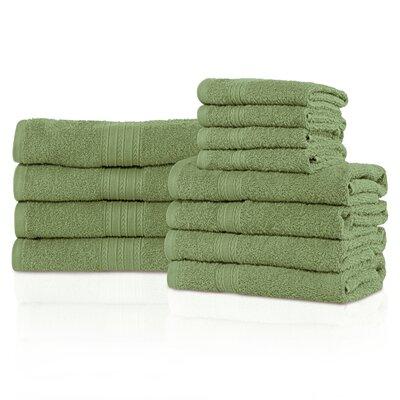 Kellerman Eco-Friendly 12 Piece Towel Set Color: Terrace Green