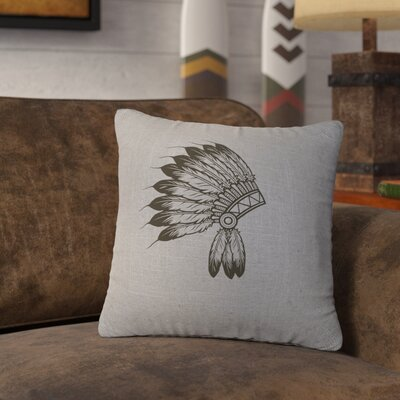 Naccarato Headdress Throw Pillow Color: Gray