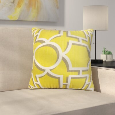 Kenn Geometric Square Cotton Throw Pillow Color: Dandelion, Size: 24 x 24