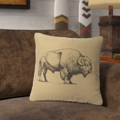 Lanphear Buffalo Throw Pillow Color: Straw