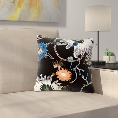 Fernanda Sternieri Dancing Flowers Abstract Outdoor Throw Pillow Size: 16 H x 16 W x 5 D