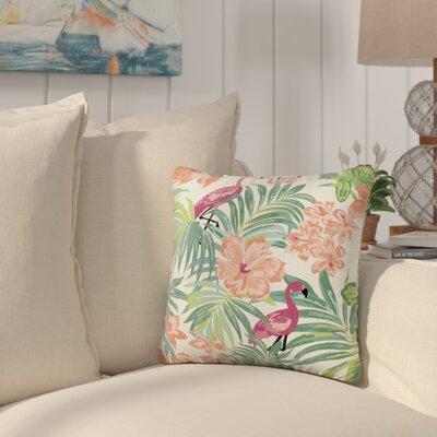 Kivett Flamingo Tropical Throw Pillow