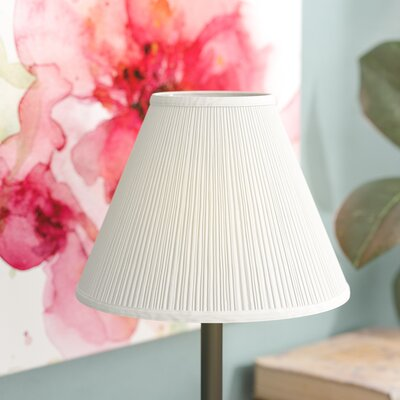 8 Linen Empire Lamp Shade Color: White