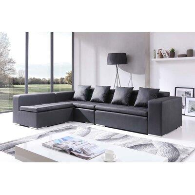 Macindoe Reversible Modular Sectional Upholstery: Black