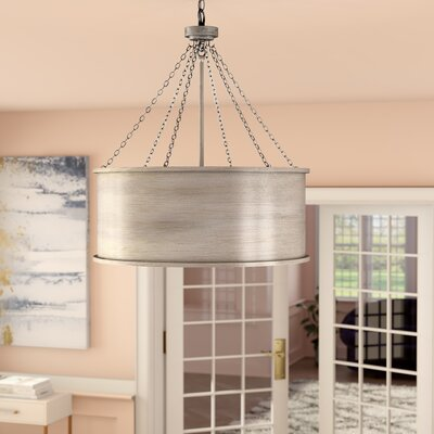 Bowe 6-Light Drum Pendant Finish: Silver Patina