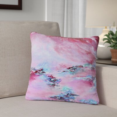 Ebi Emporium Sea to Sky 3 Abstract Outdoor Throw Pillow Size: 16 H x 16 W x 5 D