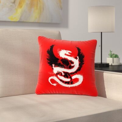 BarmalisiRTB Eagle Dragon Illustration Outdoor Throw Pillow Size: 16 H x 16 W x 5 D
