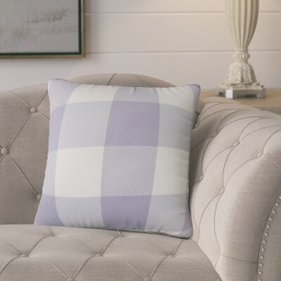 Ronzi Plaid Down Filled 100% Cotton Throw Pillow Size: 18 x 18, Color: Purple
