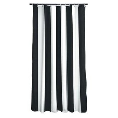 Fagin Stripes Shower Curtain Color: Black/White