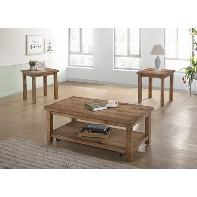 Tapley 3 Piece Coffee Table Set Color: Driftwood