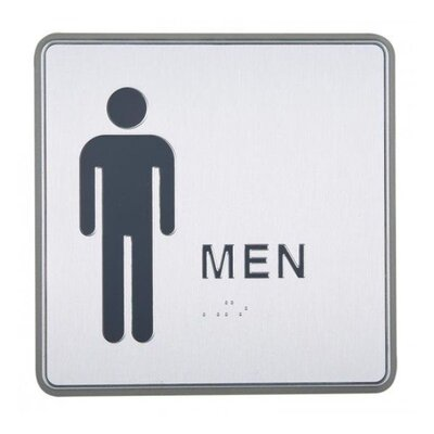 Aluminum Restroom Sign for Men