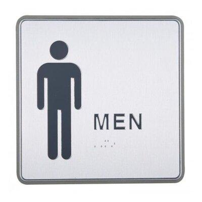 Aluminum Restroom Sign for Men