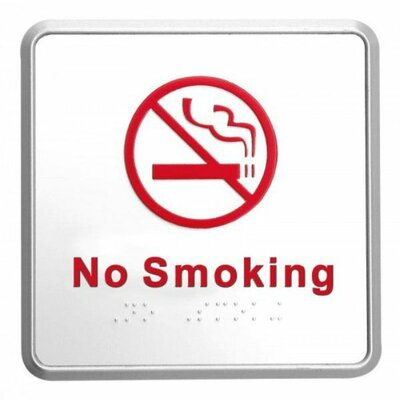 Aluminum No Smoking Sign with Braille