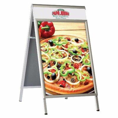Premium A Board Color: Silver, Size: 24.09 H x 30.09 W