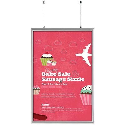 Double Sided Snap Frame Size: 37.18 H x 25.18 W x 1.06 D