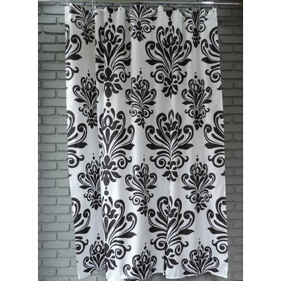 Moorhouse Shower Curtain Color: Black/White