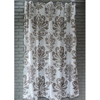 Moorhouse Shower Curtain Color: Gray/White