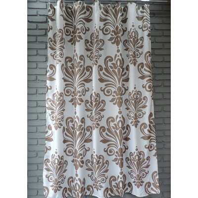 Moorhouse Shower Curtain Color: Brown/White