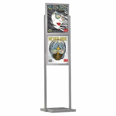 Eco Info board Color: Silver, Size: 24.91 H x 18.91 W