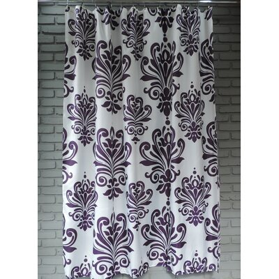 Moorhouse Shower Curtain Color: Purple/White