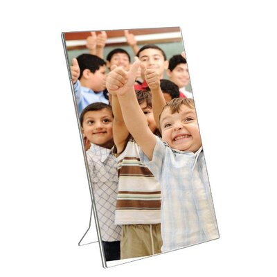 Acrylic Photo Frame with Support Portrait Size: 10.12 H x 8 W